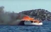 GÖCEK - Milyonluk tekne böyle yandı!
