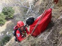 Kayalıklarda Mahsur Kalan Keçi İçin 6 Saatlik Operasyon