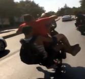 SARIYER - Motosikletli Maganda Kaza Yaptı Açıklaması O Anlar Kamerada