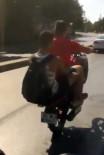 SARIYER - (Özel) İstanbul'da Motosikletli Magandanın Tek Teker Kazası Kamerada