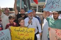 İNSANLIK DRAMI - Reyhanlı'daki Suriyelilerden İdlib'e Müdahaleye Protesto