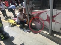 RAYLI SİSTEM - Samsun'da Tramvay Yayaya Çarptı Açıklaması 1 Yaralı