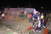 Aksaray'da Otobüs Şarampole Devrildi Açıklaması 6 Ölü, 44 Yaralı