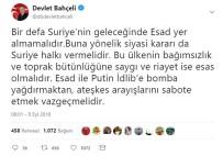 CENEVRE - Bahçeli Açıklaması 'Suriye'nin Geleceğinde Esad Yer Almamalıdır'