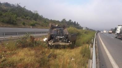 Otomobil Takla Attı 3 Kişi Yaralandı