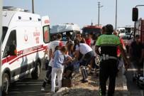 BELEVI - Bodrum'da Yolcu Minibüsü Devrildi Açıklaması 16 Yaralı