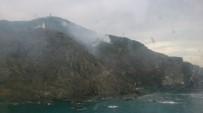 YILDIRIM DÜŞMESİ - Hatay'daki Yangında 1 Hektarlık Orman Alanı Zarar Gördü
