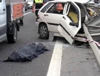 HADıMKÖY - TEM otoyolunda feci kaza: 1 ölü