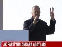 Cumhurbaşkanı Erdoğan, AK Parti'nin Ankara ilçe belediye başkanı adaylarını açıkladı