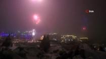 Kapadokya Yeni Yıla Havai Fişek Gösterileriyle Girdi