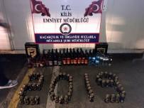 Kilis'te 180 Şişe Kaçak İçki Ele Geçirildi