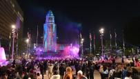 LOS ANGELES - Los Angeles 2019'A Yüz Bin Kişinin Katıldığı Etkinliklerle Girdi