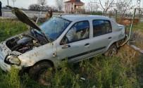 Otomobil Yoldan Çıkarak Takla Attı Açıklaması 3 Yaralı