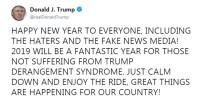 YALAN HABER - Trump Açıklaması Yalancı Medya Sizin De Yeni Yılınız Kutlu Olsun