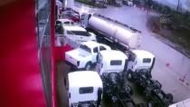 Kocaeli'de Kaza Anı Güvenlik Kamerasınca Kaydedildi