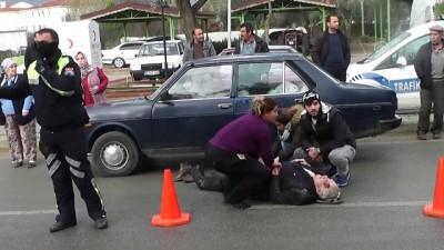 Ödemiş'te Trafik Kazası Açıklaması 1 Yaralı