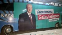KAYSERI ERCIYESSPOR - (Özel) Erciyesspor'un Otobüsü Kastamonu'da Seçim Otobüsü Oldu