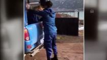 Sırtında Saman Taşıyan Yaşlı Kadına Jandarma Yardım Etti