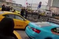 TAKSIM - Taksim'de Dolmuşçuların Korna Kavgası Kamerada