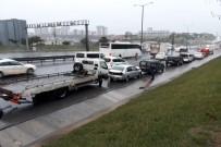 HALKALı - TEM'de Trafik Durma Noktasında