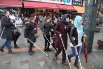 GÖRME ENGELLİLER - Antalya'da Beyaz Bastonlu Bireyler Farkındalık İçin Yürüdü