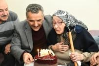 TANSİYON İLACI - Asırlık Nineye Validen Sürpriz Doğum Günü