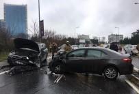 ZINCIRLIKUYU - Beşiktaş'ta Direksiyon Hakimiyetini Kaybeden İş Adamı Kaza Yaptı