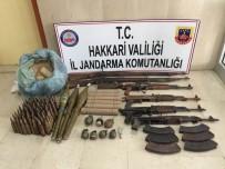 TAHKİKAT - Çukurca'da Çok Sayıda Silah Ve Mühimmat Ele Geçirildi