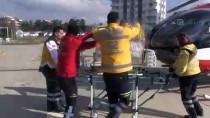 Helikopter Kardan Mahsur Kalan Hastalar İçin Havalandı