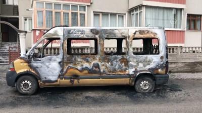 Karabük'te Araç Yangını