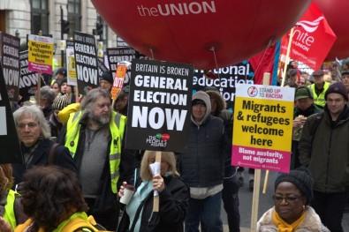 Sarı Yelekliler, Londra'da sokağa döküldü