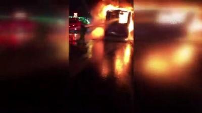 Küçükçekmece'de Otobüs Yangını