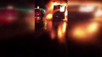 HALKALı - Küçükçekmece'de Otobüs Yangını