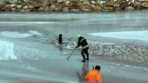 Donan Kızılırmak'ta Mahsur Kalan Köpeği İtfaiye Kurtardı