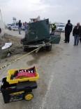 Otomobil Beton Mikserine Çarptı Açıklaması 1 Ölü