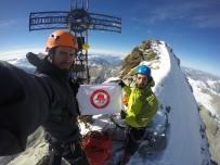 SÜLEYMAN DEMIREL ÜNIVERSITESI - SDÜ Flaması, İsviçre Alpleri'nde Dalgalandı