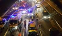 OLAY YERİ İNCELEME - TEM'de Taksi Tıra Arkadan Çarptı Açıklaması 1 Ölü