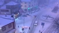 Afyonkarahisar'da Yoğun Kar Yağışı Başladı