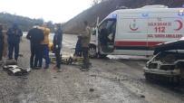 Dursunbey Akbaşlar Rampasında Kaza Açıklaması1 Yaralı