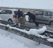 Gölbaşı Gaziantep Karayolunda Araçlar Yolda Kaldı