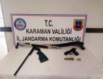 Karaman'da Otomobilde Tüfek Ve Tabanca Ele Geçirildi