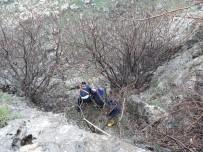 KEÇİ - Kayalıklarda Mahsur Kalan 4 Küçükbaş Hayvan Kurtarıldı