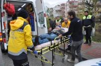 SAĞLIK EKİBİ - Manavgat'ta Otomobilin Çarpıp Kaçtığı Yaya Yaralandı