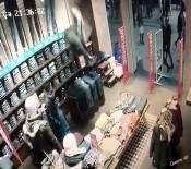 GÜVENLİK GÖREVLİSİ - (Özel) İstanbul'da Hırsızın Film Sahnelerini Aratmayan Kaçışı Kamerada