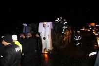 Yalova'da Otobüs Devrildi Açıklaması 14 Yaralı