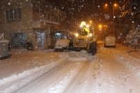 Çal'da Kar Kalınlığı 20 Santimetreye Kadar Ulaştı