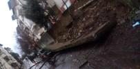 GÜVENLİK ÖNLEMİ - İstinat Duvarı Otomobilin Üzerine Çöktü