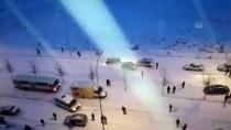 ÇARPMA ANI - Konya'da Buzlanma Kazalara Yol Açtı