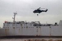 HELIKOPTER - Mersin'de Karaya Oturan Gemide Nefes Kesen Kurtarma Operasyonu