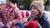 MERYEM ANA - Pamukkale'de Kar Altında Termal Havuz Keyfi